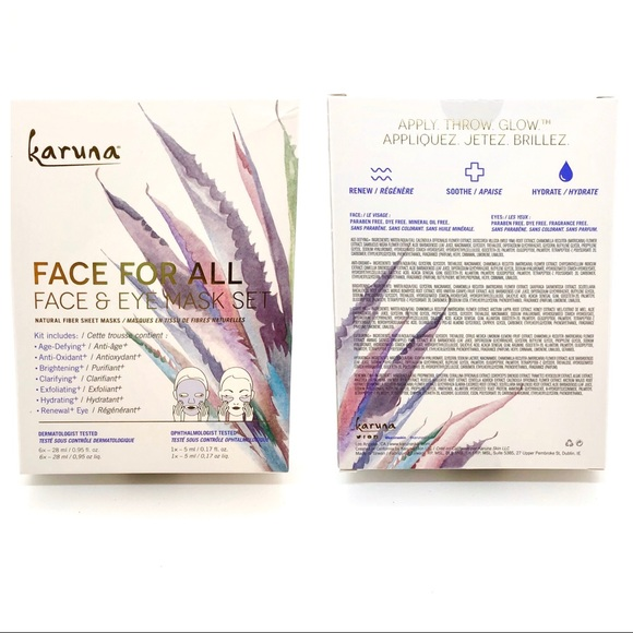 Karuna Face and Eye mask set